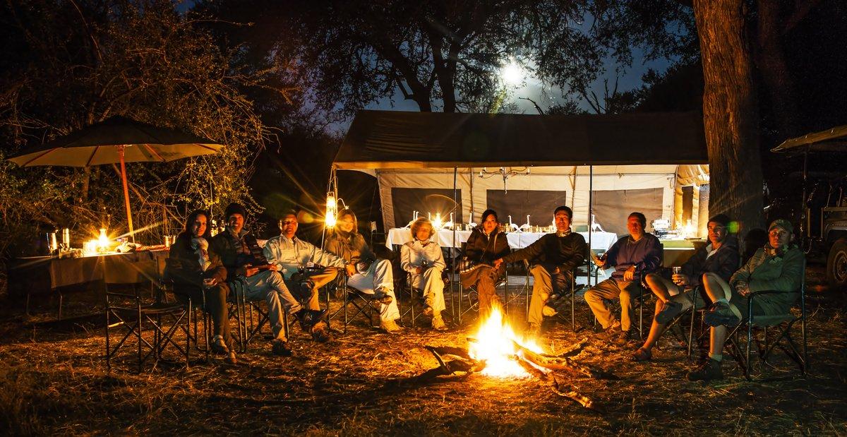Camp fire mobile safari