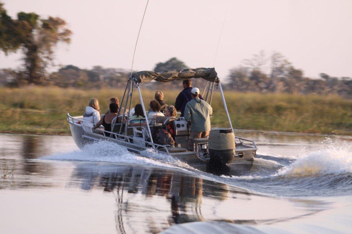 Boating Okavango Delta